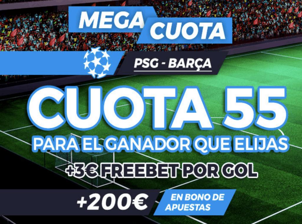 Supercuota Pastón Champions League: PSG - FC Barcelona