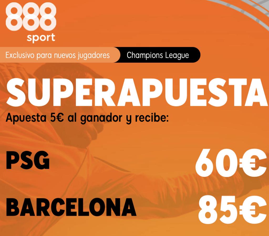 Supercuota 888sport Champions League : PSG - Fc Barcelona
