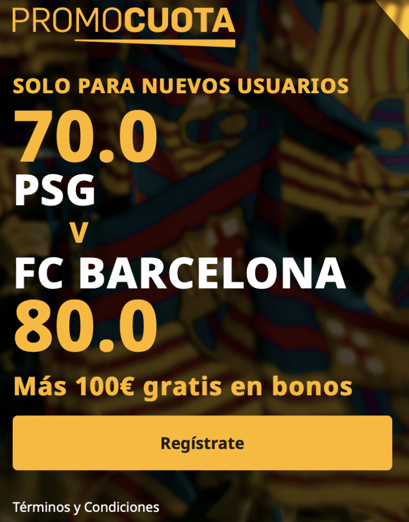 Supercuota Betfair Champions League : PSG - Fc Barcelona