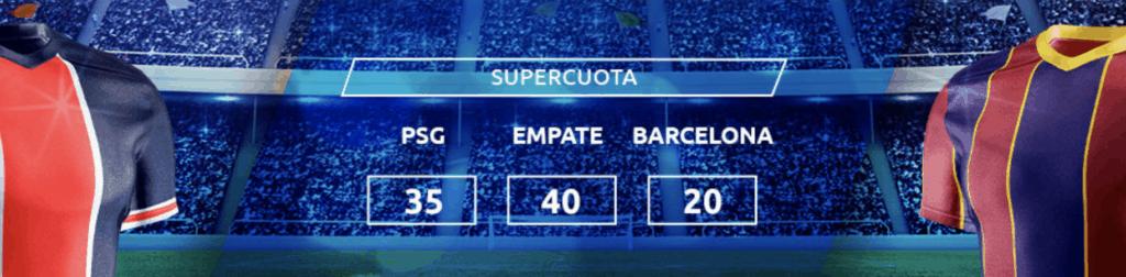 Supercuota Mondobets Champions League : PSG - Fc Barcelona