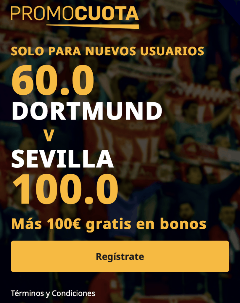 Supercuota betfair Champions League : Borussia Dortmund - Sevilla FC