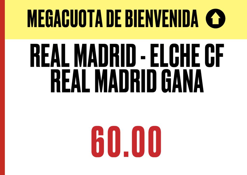 Supercuota Pokerstars La Liga : Real Madrid - Elche