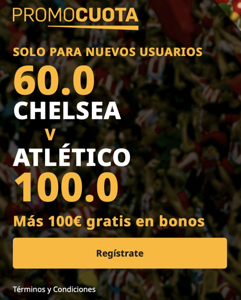 Supercuota betfair Champions League : Chelsea - Atlético de Madrid