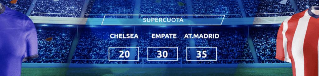 Supercuota Mondobets Champions League: Chelsea - Atlético de Madrid
