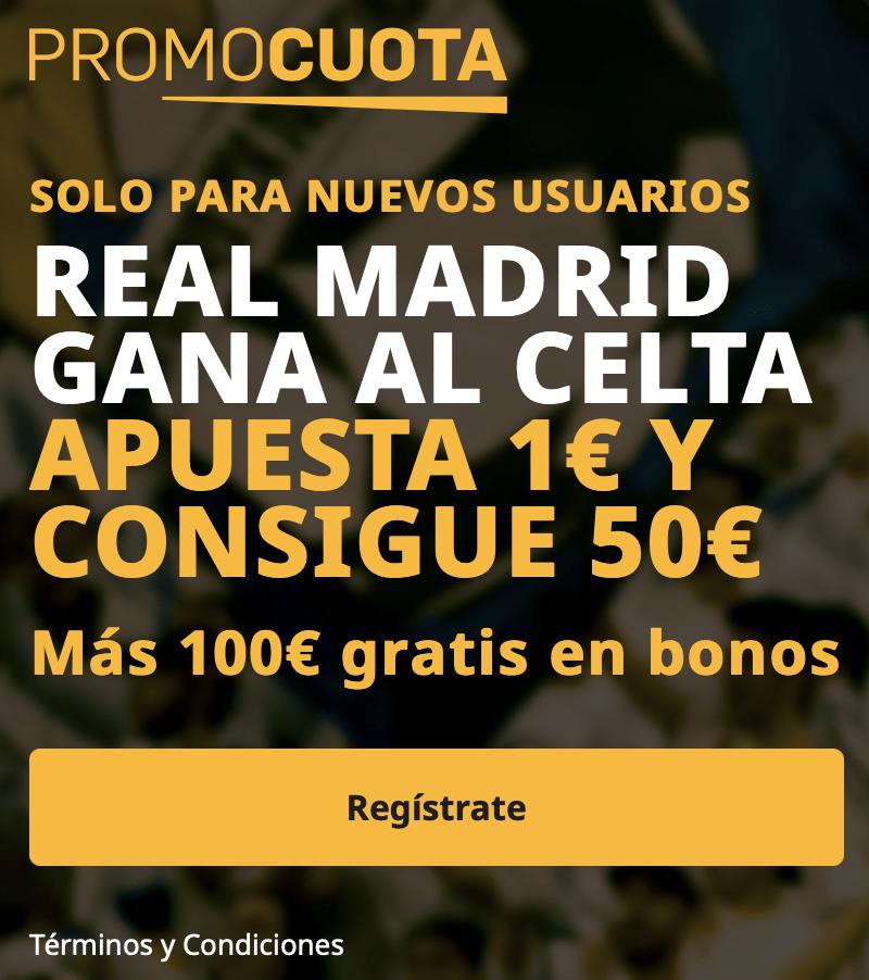 Supercuota betfair Liga : Celta - Real Madrid