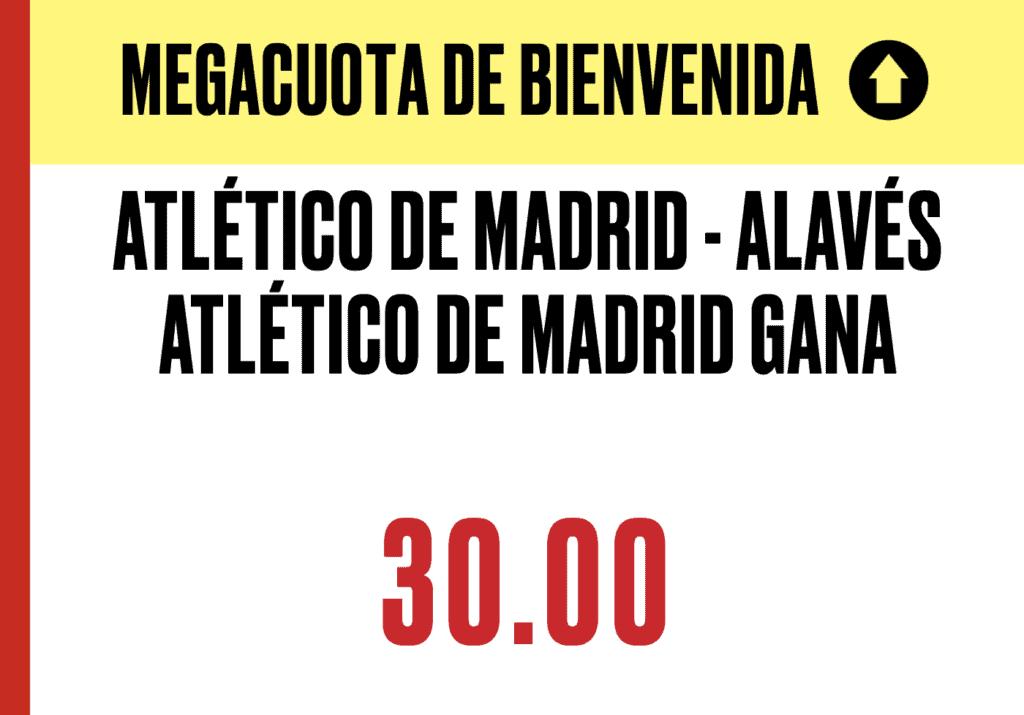Supercuota Pokerstars La Liga : Atlético de Madrid - Alavés