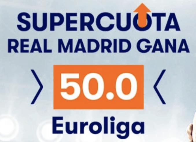 Supercuota betsson Euroliga : Real Madrid - CSKA