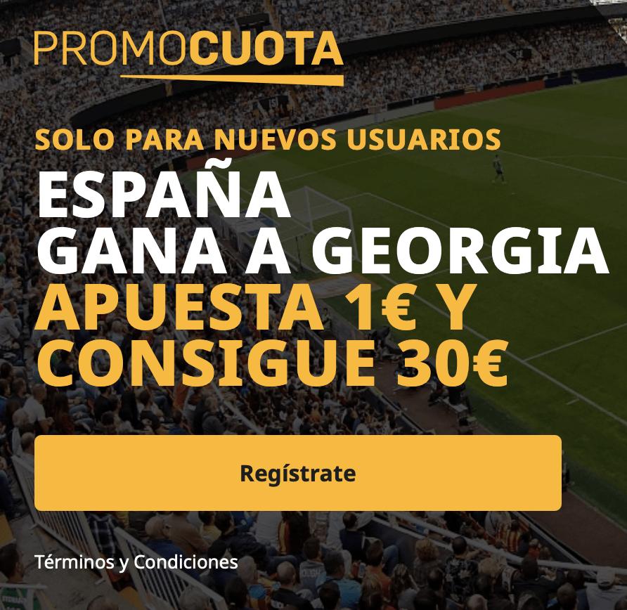 Supercuota betfair Georgia - España