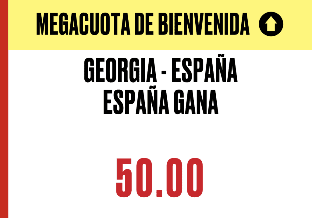 Supercuota Pokerstars Sports : España gana a Georgia a cuota 50