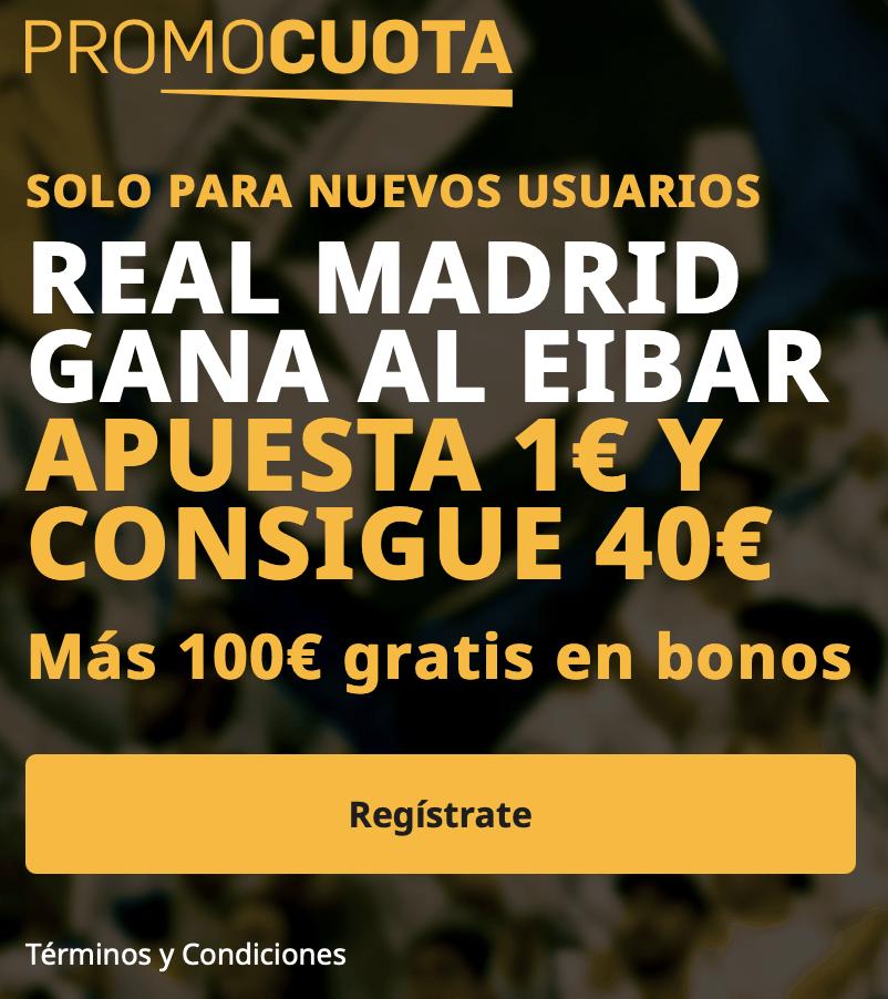 supercuota betfair Real Madrid - Eibar