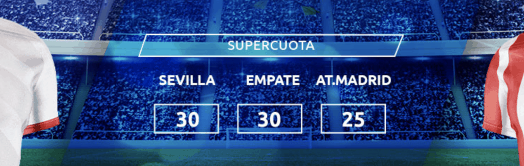 Supercuota Mondobets La Liga : Sevilla FC - Atlético de Madrid