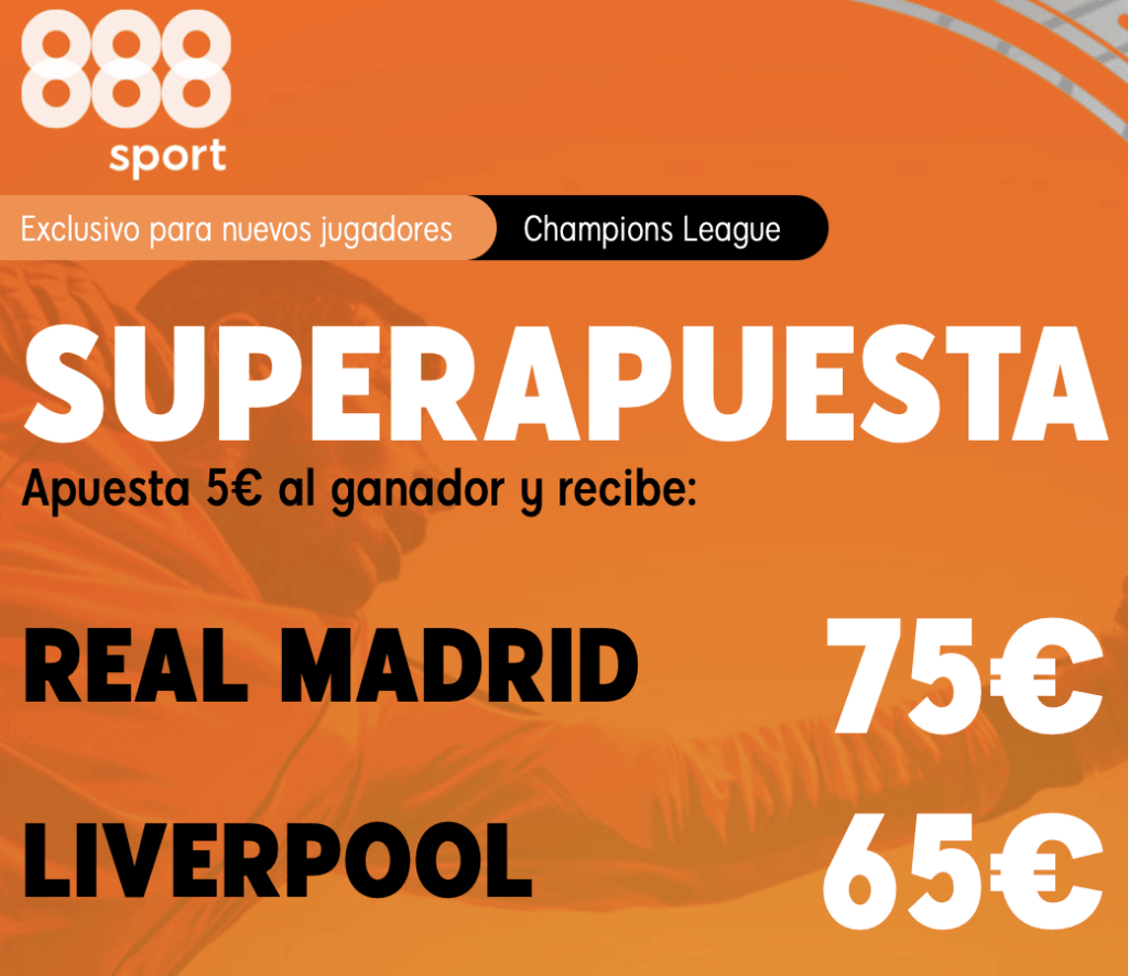 Supercuota 888sport Real Madrid - Liverpool