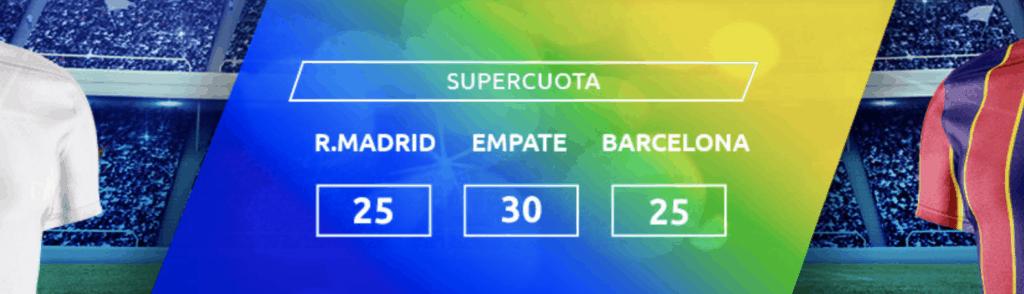 Supercuota Mondobets El Clásico : Real Madrid - Fc Barcelona