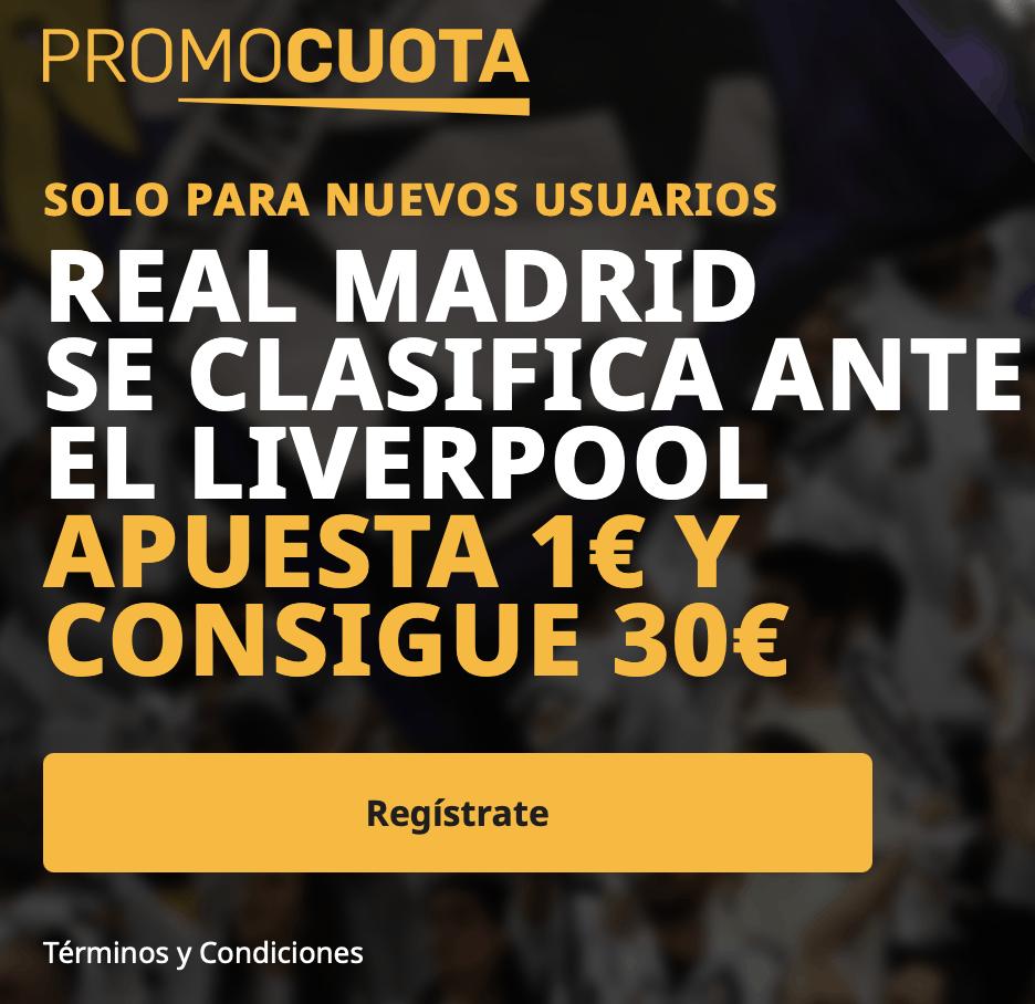 Supercuota betfair Champions League : Liverpool - Real Madrid