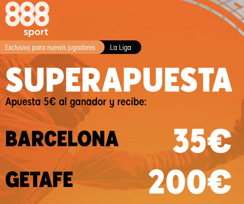 Supercuota 888sport La Liga : Fc Barcelona - Getafe