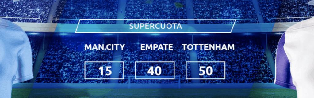 Supercuota Mondobets Liga: Manchester City - Tottenham