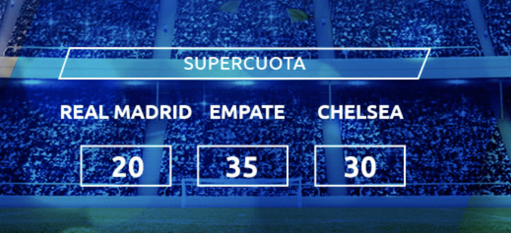 Supercuota Mondobets Champions League: Real Madrid - Chelsea